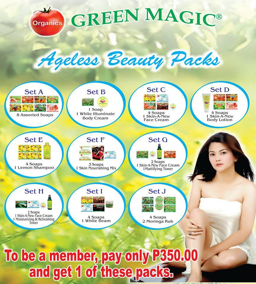 Green Magic Ageless Beauty Packs